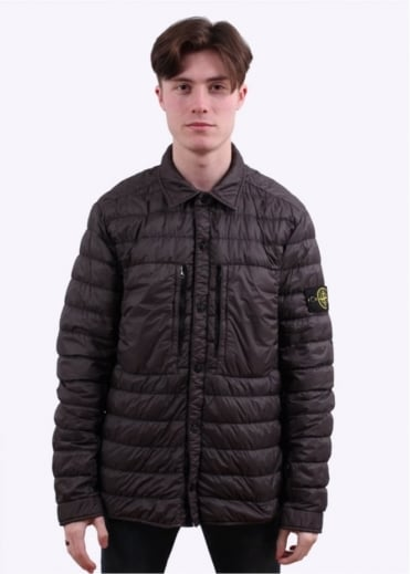 Stone Island Garment Dyed Down Jacket - Charcoal