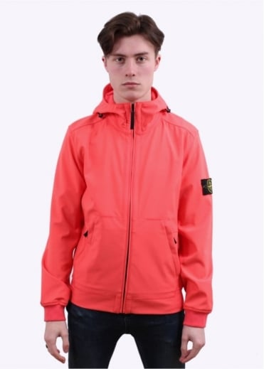 Stone Island Light Soft Shell Jacket - Coral
