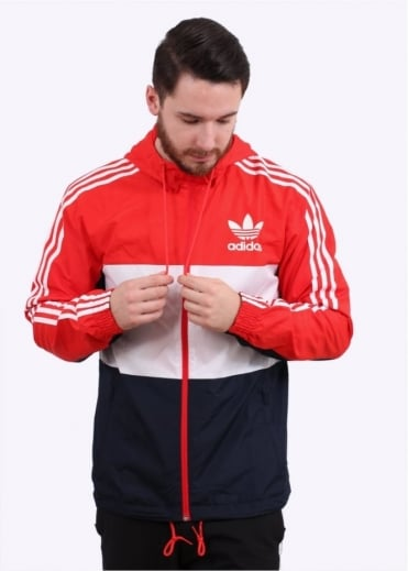 Adidas Originals Apparel CLFN Windbreaker - Red