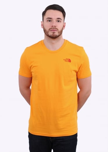 The North Face SS Simple Dome Tee - Zinnia Orange