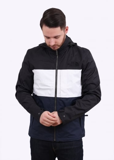 The North Face Denali Triblock Jacket - Black / White