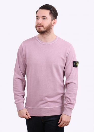 Stone Island Crew Sweat - Rose Quartz