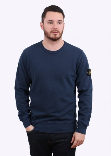 Stone Island Crew Sweat - Blue Marine