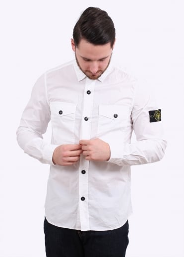 Stone Island Button Shirt - White