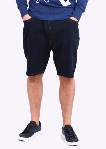 Vivienne Westwood Mens Anglomania Shady Asymmetric Short - Blue Denim