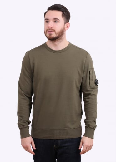 C.P. Company Crew Sweat - Dark Olive