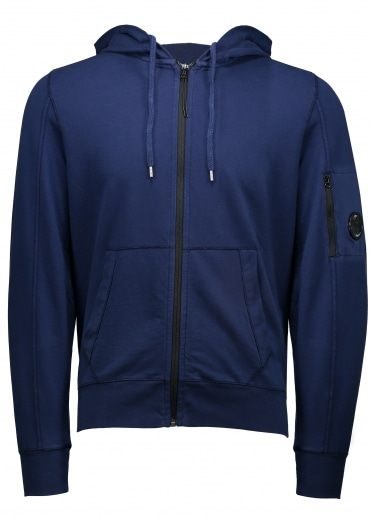 C.P. Company Hooded Open Sweat - Blue Print