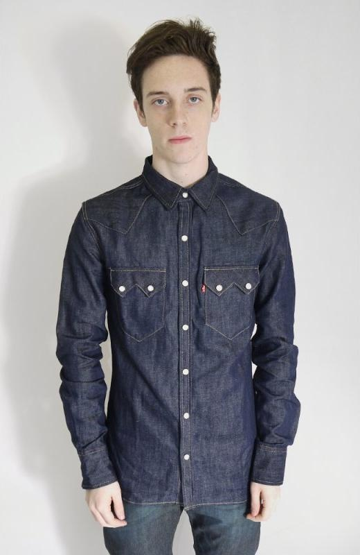 Levi 39 S Red Tab Denim Sawtooth Shirt Blue Shirts From