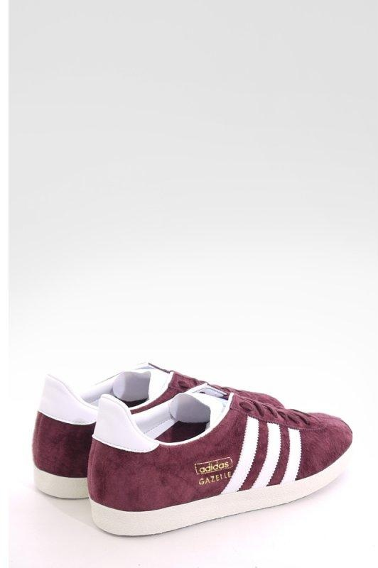 Adidas Gazelle Og Leather Maroon