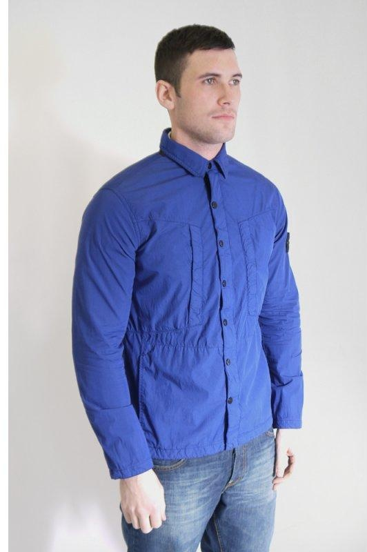 Blue Shirt Jacket - JacketIn