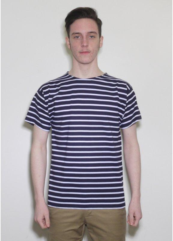 Armor lux short sleeve striped sailor t shirt navy for Striped french sailor shirt