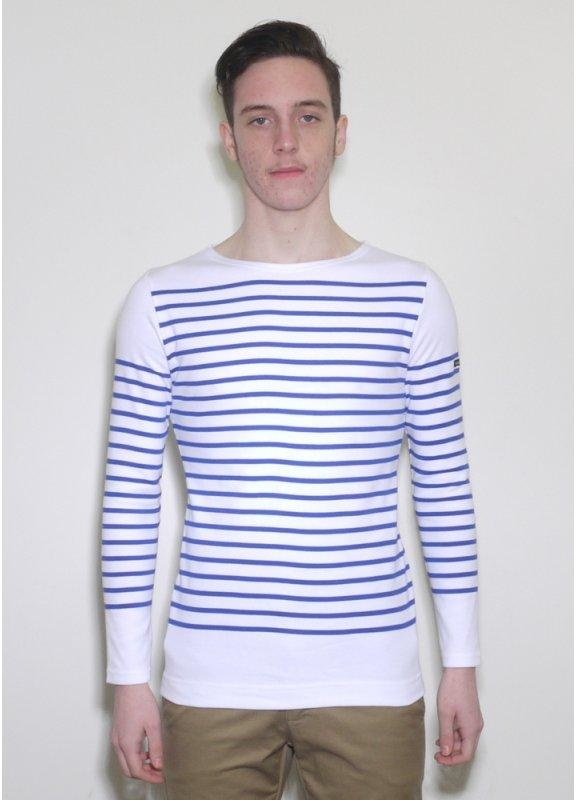 Armor lux long sleeve sailor shirt blue white striped for Striped french sailor shirt