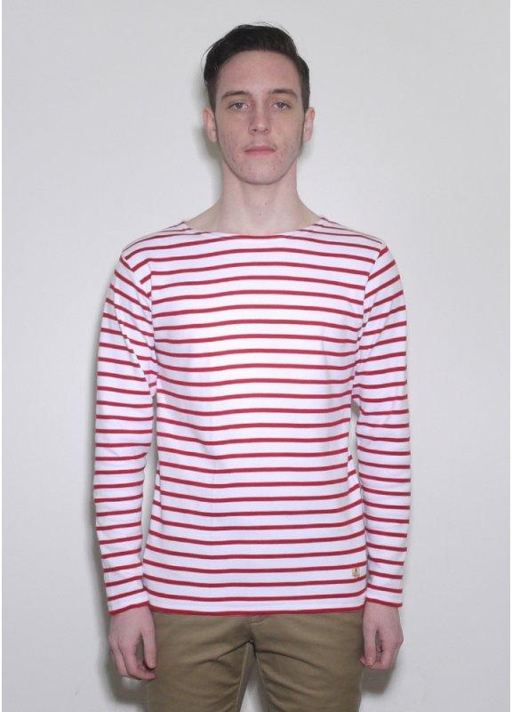 Armor lux long sleeve sailor stripe logo t shirt triads for Striped french sailor shirt