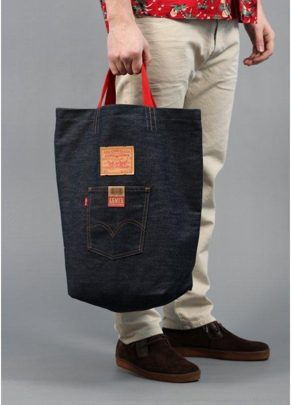 Levi S Vintage Denim Tote Bag Triads