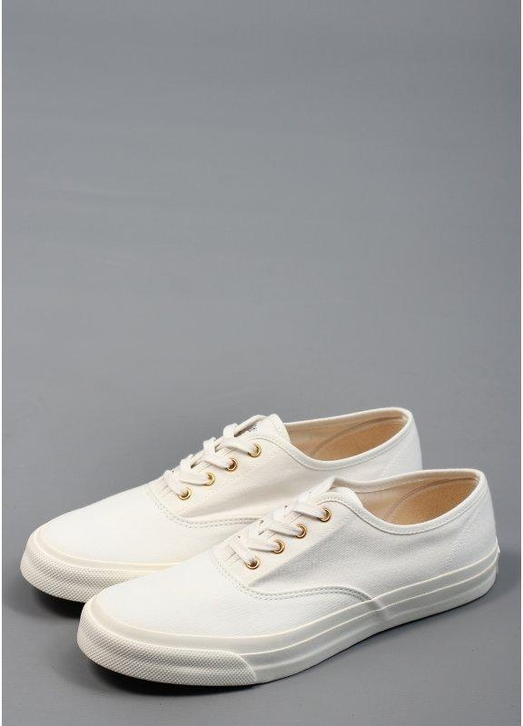Maison Kitsune Canvas Sneaker Trainers White Triads