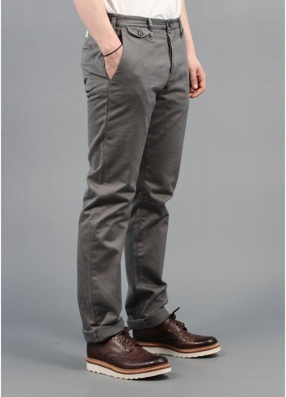 Grey slim fit stretch chinos Pinch to zoom