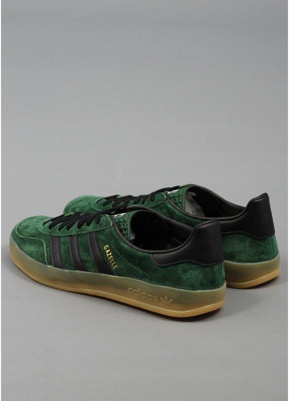 Adidas Gazelle Indoor Green And Black