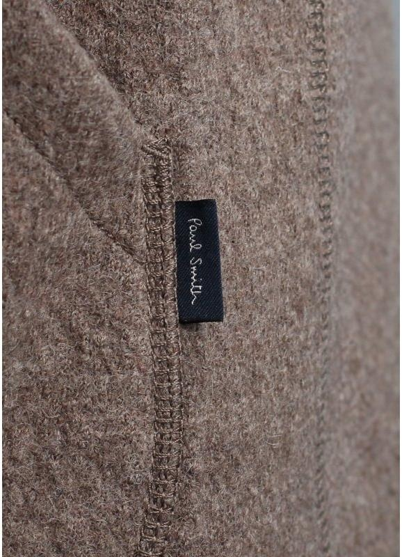 Paul Smith Jeans Wool Amp Leather Donkey Jacket Brown Paul