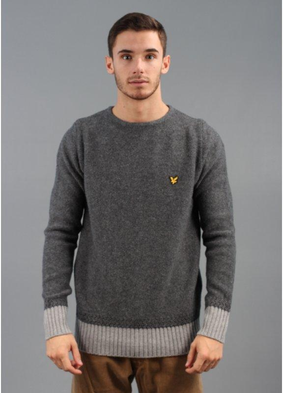 Lyle & Scott Vintage Guernsey Sweater Deep Steel