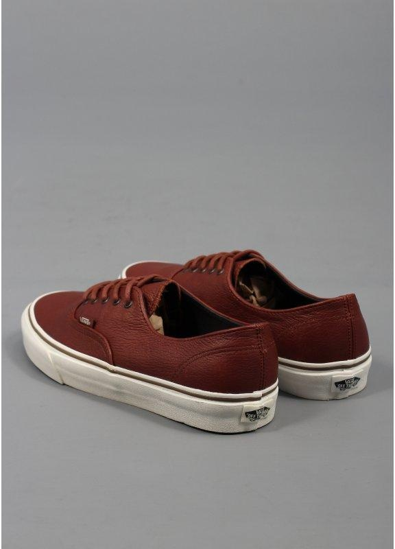 vans authentic brown leather shoes