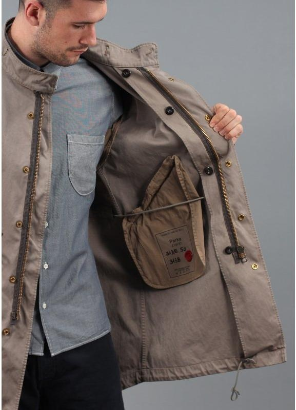 Ten C Fishtail Parka Jacket Khaki
