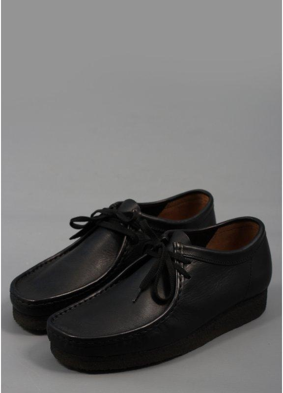clarks originals wallabee leather shoes black triads