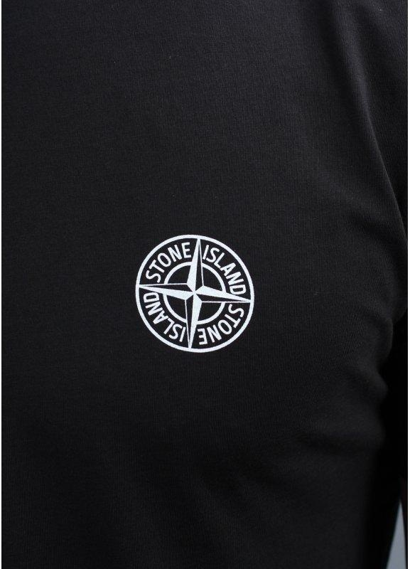 stone island logo tee black. Black Bedroom Furniture Sets. Home Design Ideas