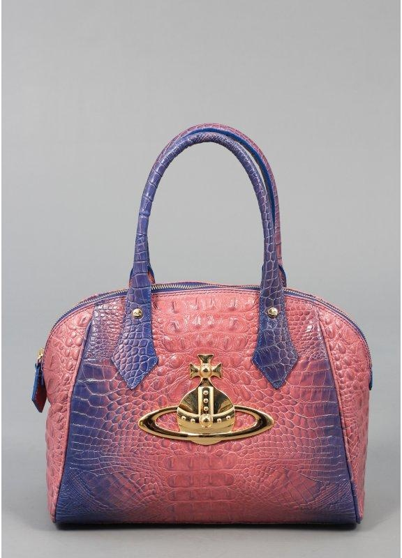 Vivienne Westwood Classic Orb Leather Bag Pink Ss13