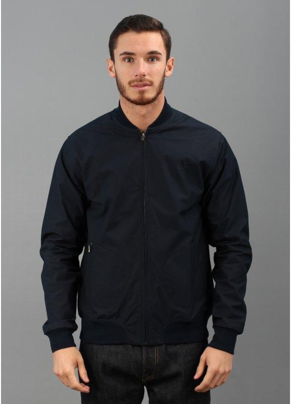 fred perry laurel wreath cotton bomber jacket navy blue. Black Bedroom Furniture Sets. Home Design Ideas