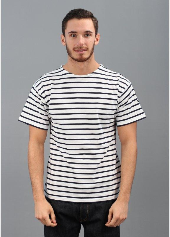 armor lux theviec breton stripe t shirt white navy. Black Bedroom Furniture Sets. Home Design Ideas