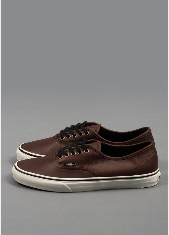 Vans Authentic Aged Leather Shoes Brown Hugo Boss Green Shoes