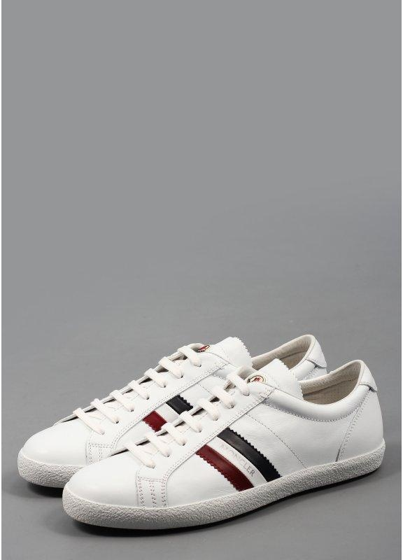 Moncler Monaco Leather Trainers White