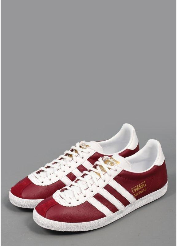 Adidas Vintage Gazelle Og Leather Trainers In Neo White