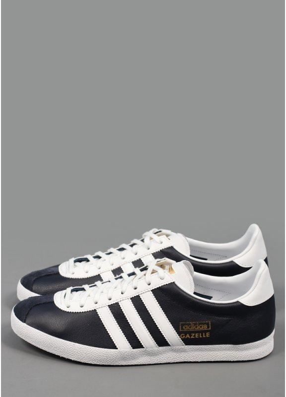 Adidas Gazelle Black And White Leather