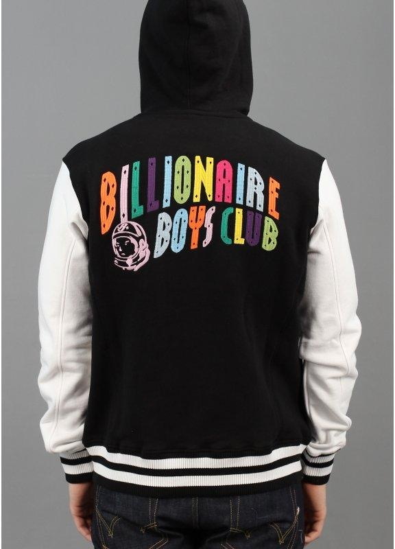 Billionaire Boys Club Spectrum Varsity Hooded Jacket Black