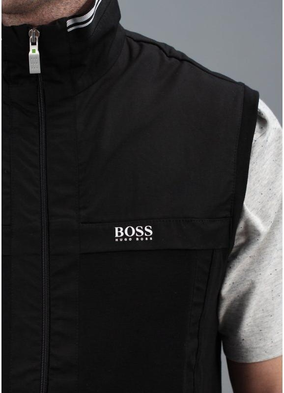 Hugo Boss Green Soron Zip Gilet Track Top - Black Hugo Boss Green Shoes
