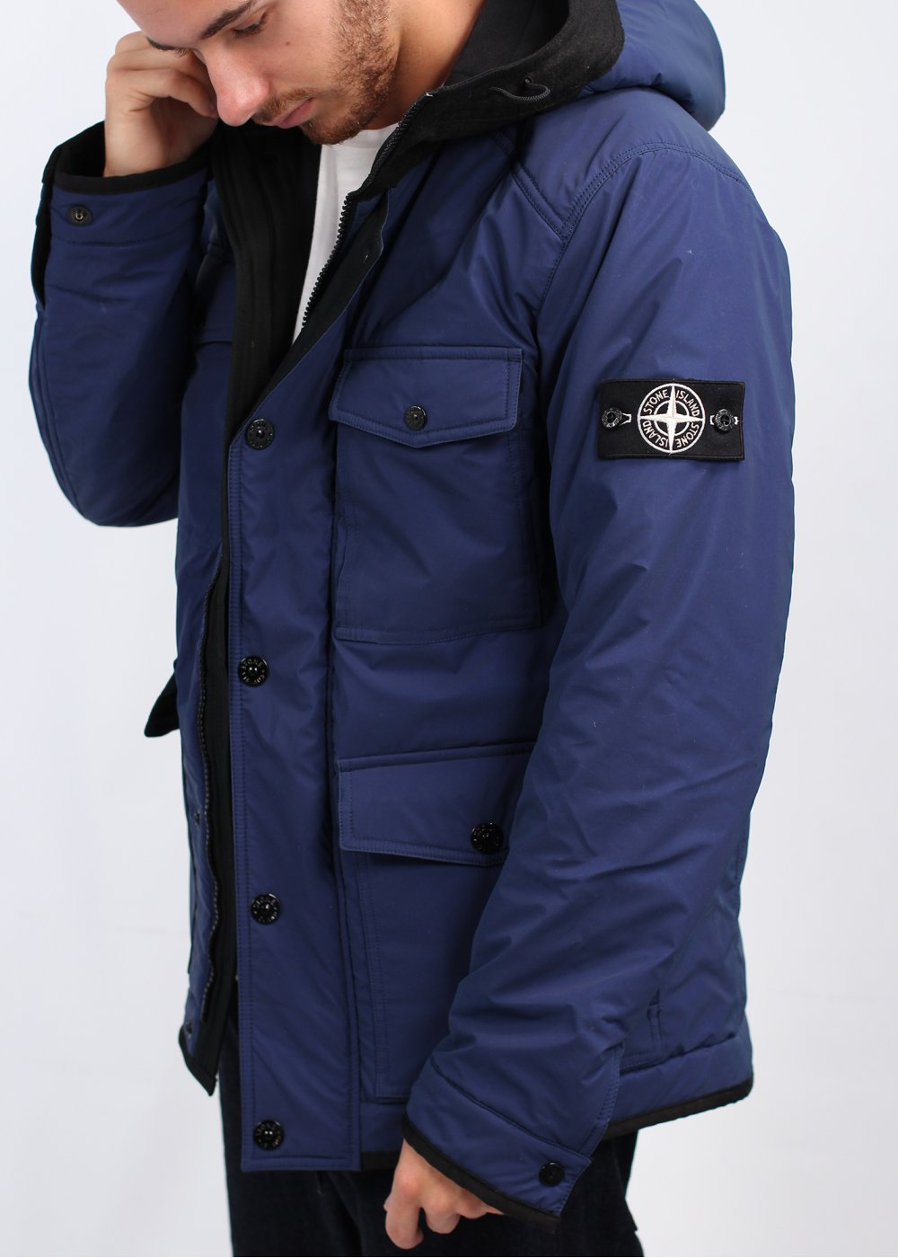 stone island reflex mat parka jacket blue. Black Bedroom Furniture Sets. Home Design Ideas