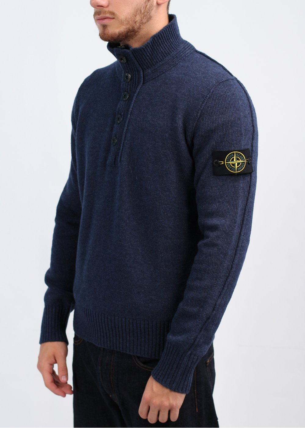 stone island button pullover royal blue. Black Bedroom Furniture Sets. Home Design Ideas
