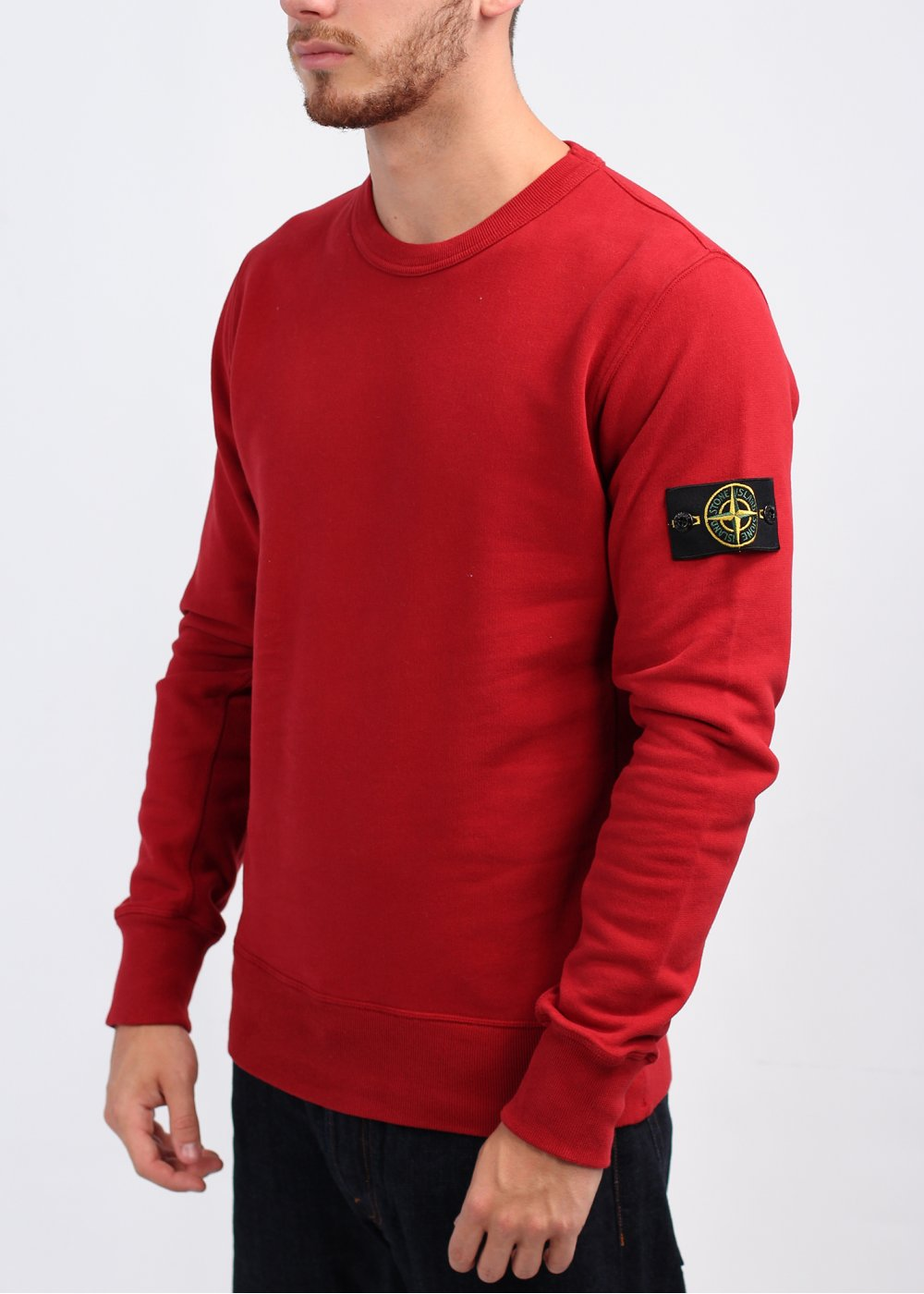 stone island sweatshirt red. Black Bedroom Furniture Sets. Home Design Ideas
