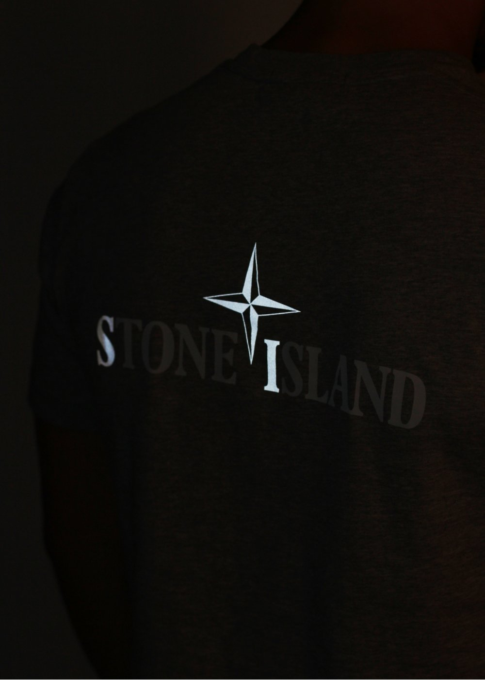 stone island reflective logo tee dust. Black Bedroom Furniture Sets. Home Design Ideas