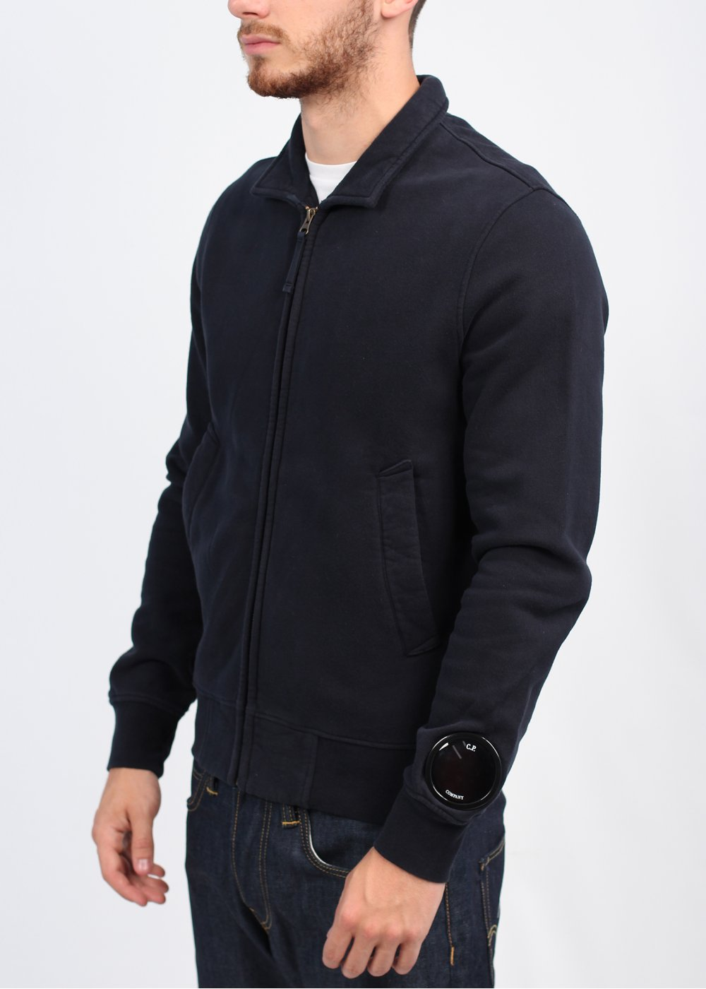 Cp Company Zip Jacket Navy