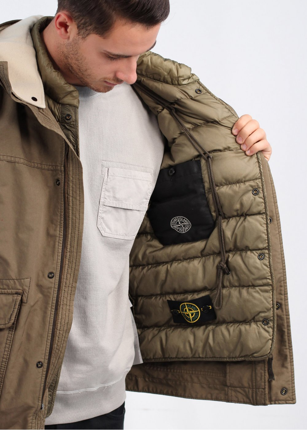 stone island david tc field jacket. Black Bedroom Furniture Sets. Home Design Ideas