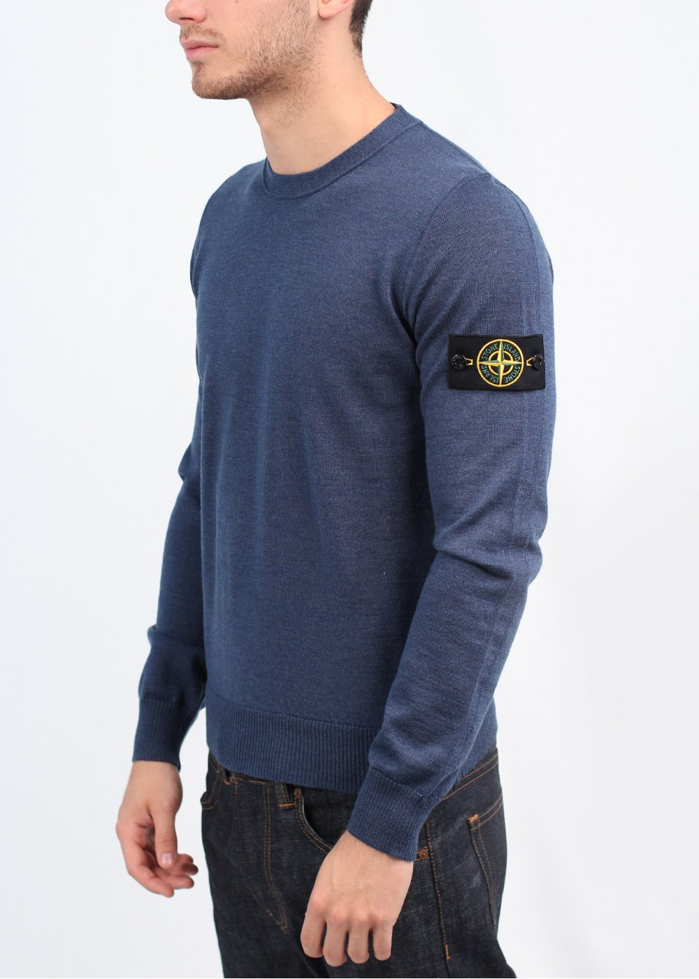 stone island thin sweater blue. Black Bedroom Furniture Sets. Home Design Ideas