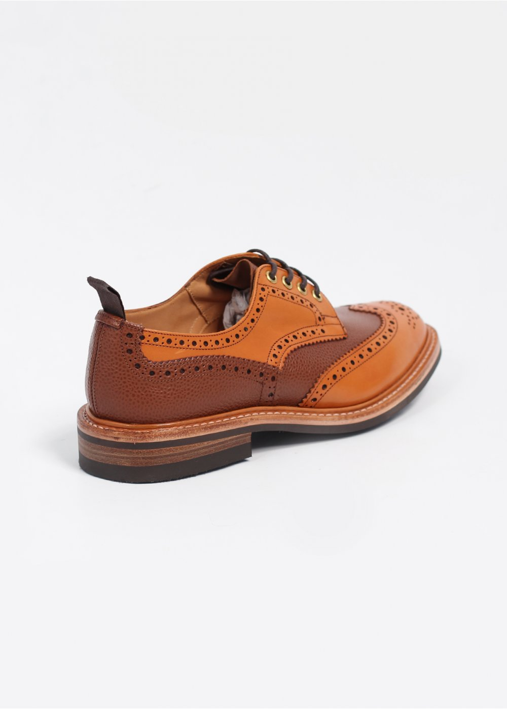 tricker s x triads two tone leather derby brogue shoes