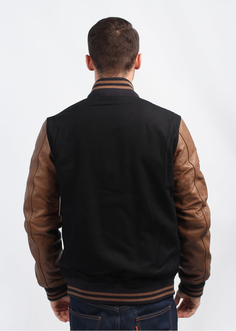 Nike Destroyer Varsity Jacket Black Military Brown