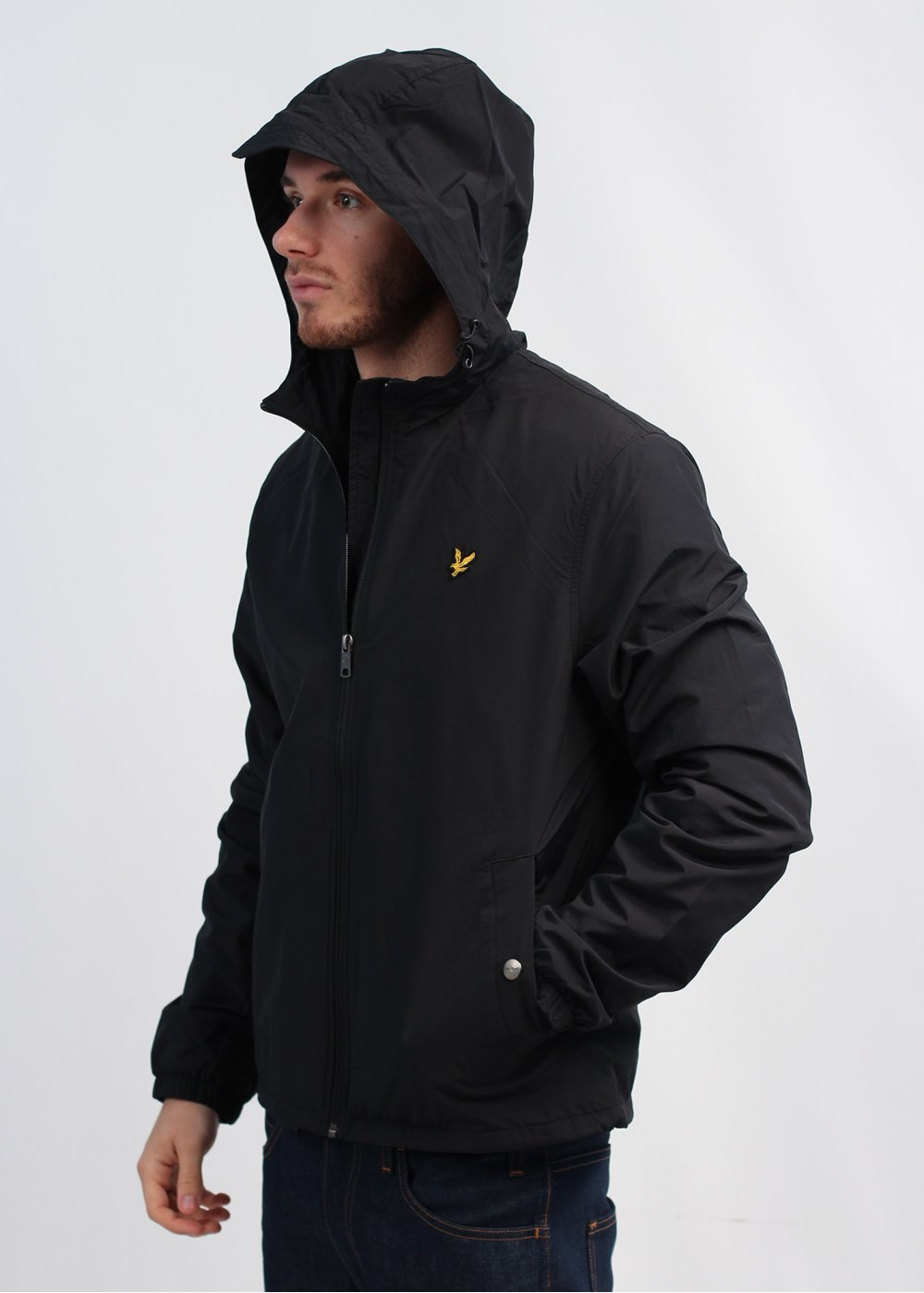 lyle scott vintage hooded jacket black. Black Bedroom Furniture Sets. Home Design Ideas