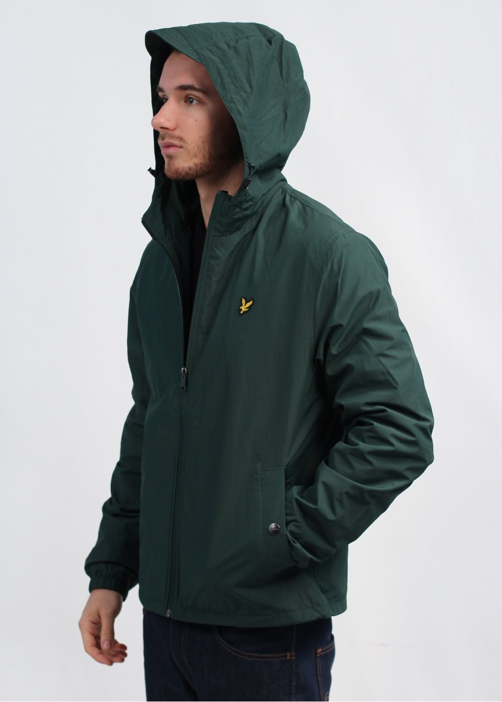 lyle scott vintage hooded jacket green. Black Bedroom Furniture Sets. Home Design Ideas