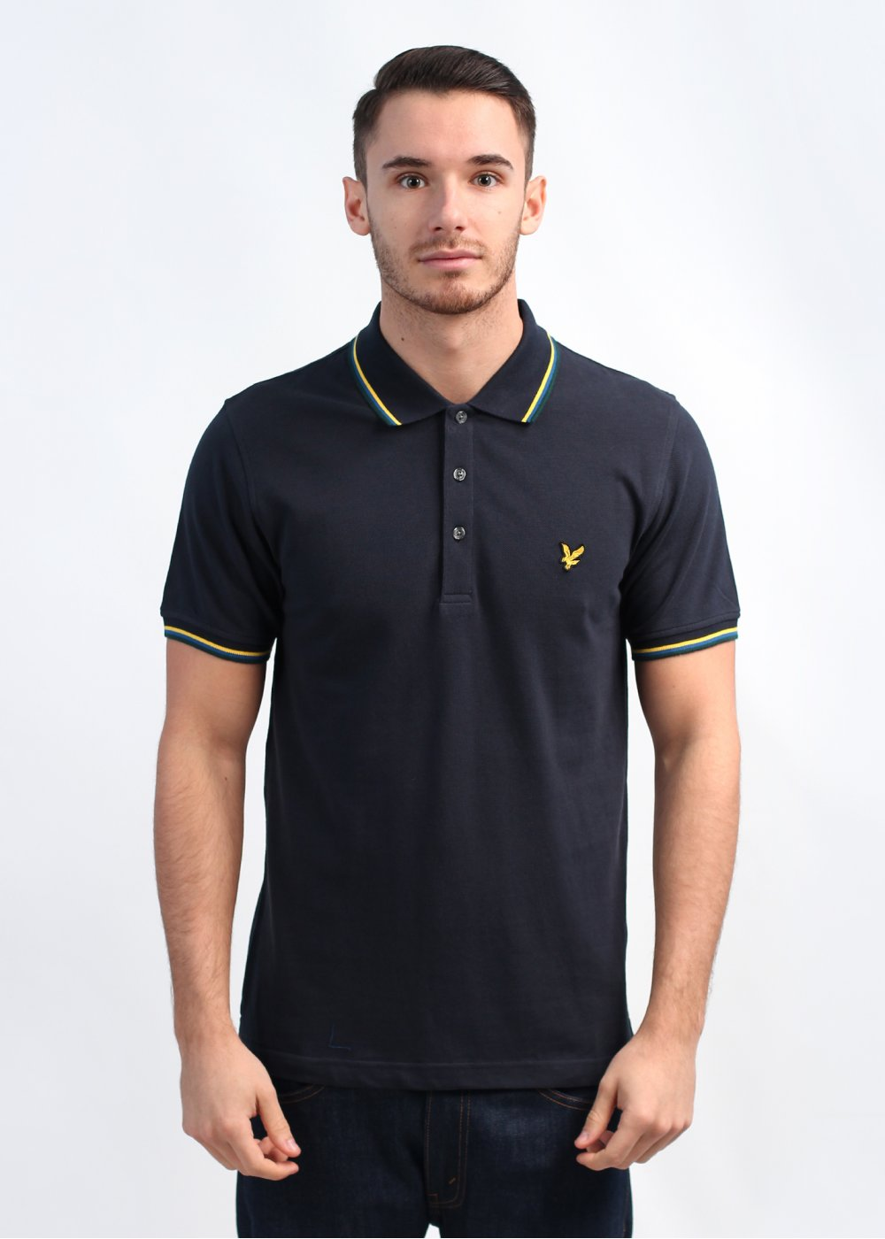 lyle scott vintage tipped polo shirt navy. Black Bedroom Furniture Sets. Home Design Ideas