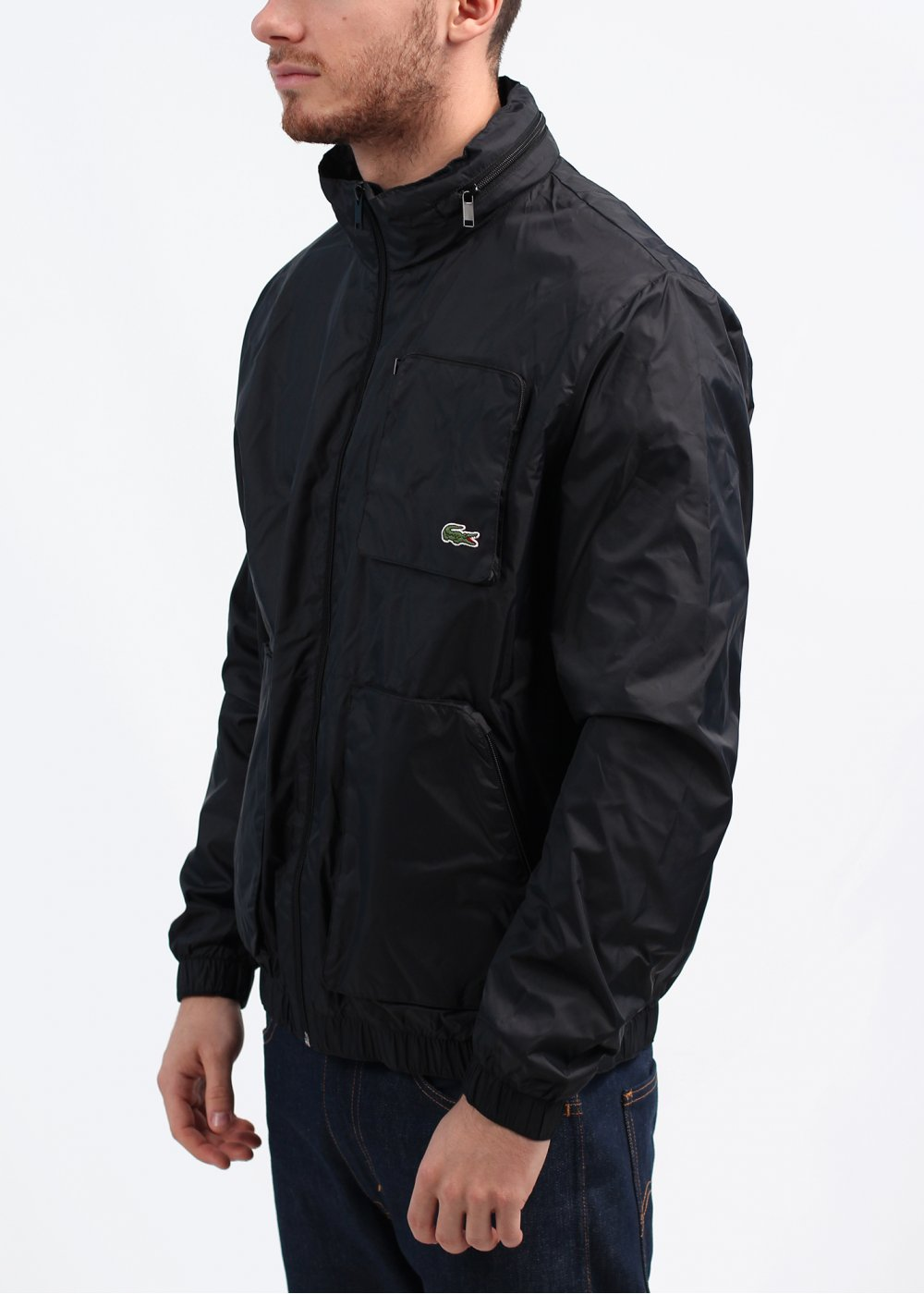 Lacoste Hooded Jacket Black