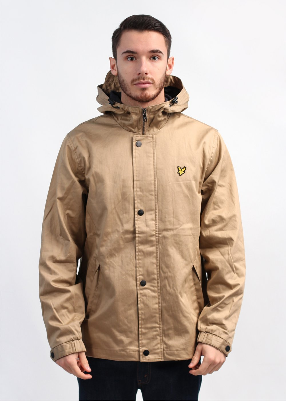 lyle scott vintage hooded twill jacket dark camel beige. Black Bedroom Furniture Sets. Home Design Ideas